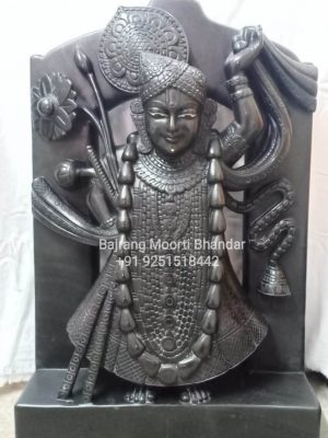 Black Shrinath Ji Murti