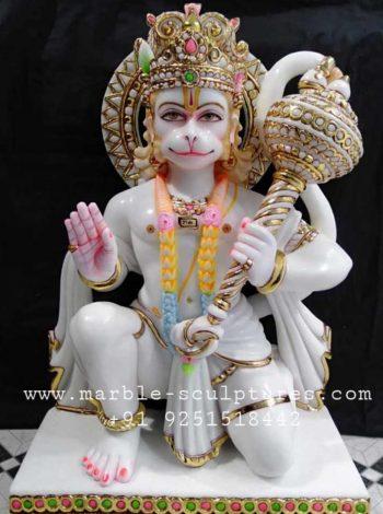 hanuman ji marble murti for home