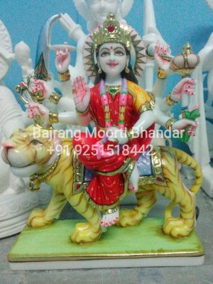 Marble Ambe mata Statue in 12inch