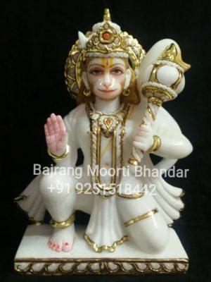 Marble Hanuman Statue in 9inch