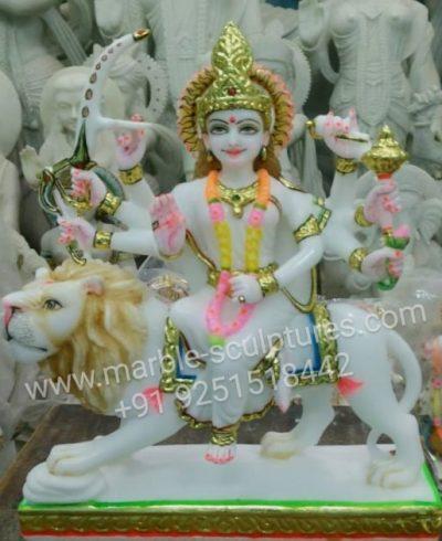 marble Durga maa Murti