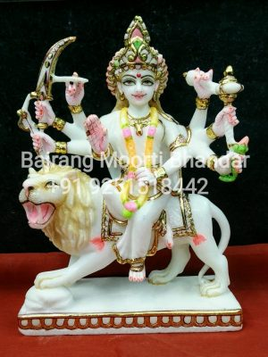 Marble durga Mata Statue in 9inches