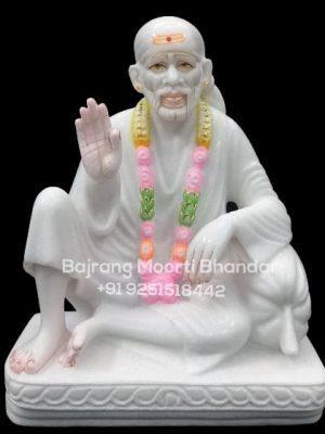 Marble Dwarka mai saibaba murti statue