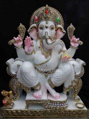 Marble Ganesh Statue Murti