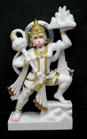 Marble Hanuman Statue in 3ft