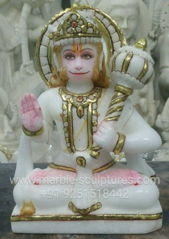 Marble Hanuman Statue for home