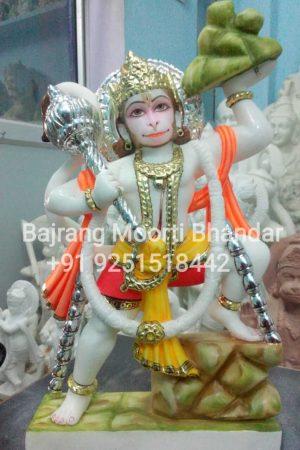 Marble hanuman murti for home