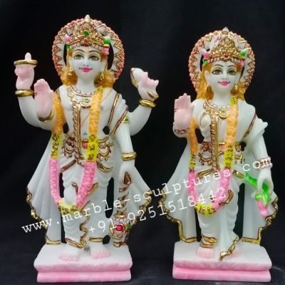 Marble Lakshmi Narayan Statue