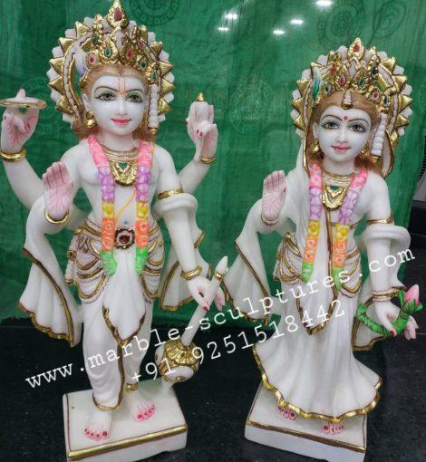 Marble Lakshmi Narayan Statues