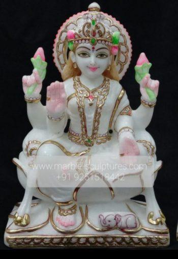Marble Laxmi Murti Statue