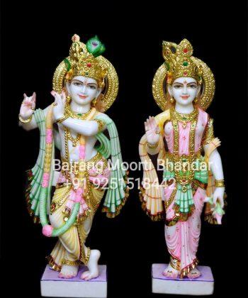 Marble Radha Krishna Murti for home