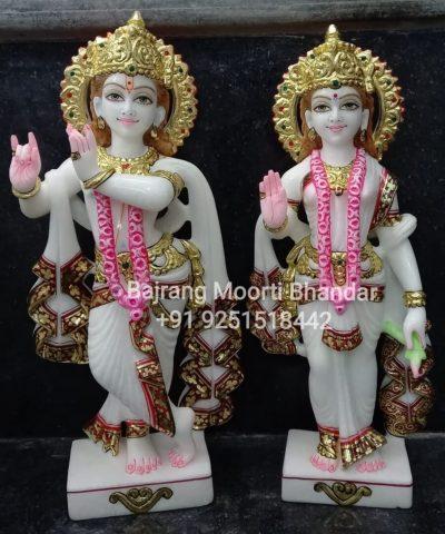 marble Radha Krishna Statue 15inches Home