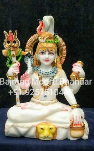Marble Small Shiv Mahadev Murti