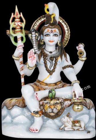 marble shiva bhagwan statue