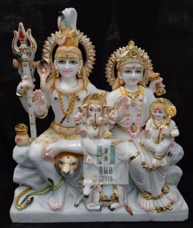 Shiv Parivar murti Marble