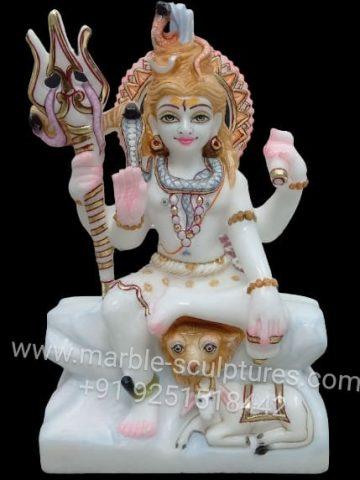 small marble shiva statue