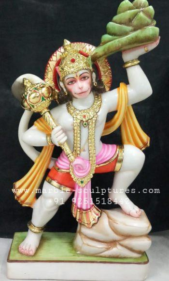 Veer Hanuman Marble Murti