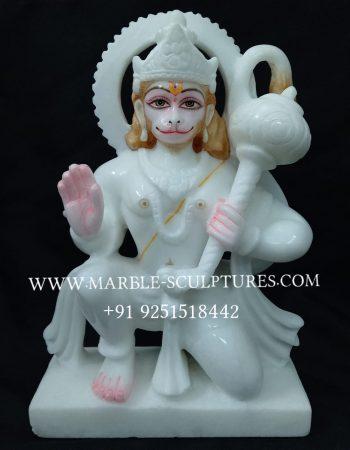 white hanuman marble murti