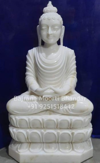 This is white marble buddha idol in 24inch