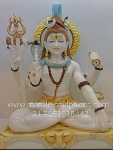 white marble shiva murti
