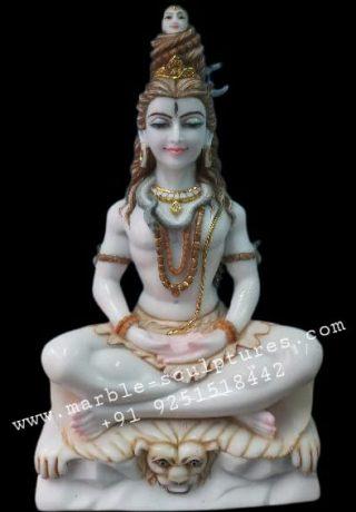 white rishikesh shiva statue